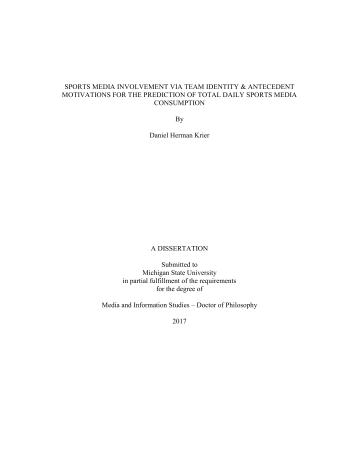 Daniel Herman Krier PhD - Dan Krier Michigan State University Dissertation - Title Page - May 2017 - Dr. Daniel Herman Krier